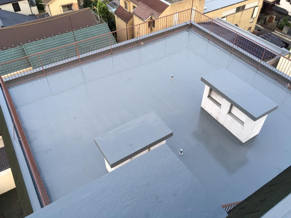 屋上防水見学会-施工後