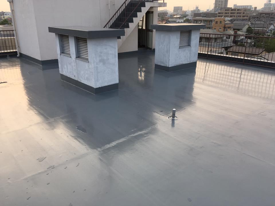 屋上防水見学会-施工後02