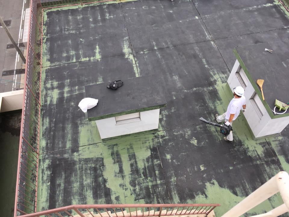屋上防水見学会-施工前