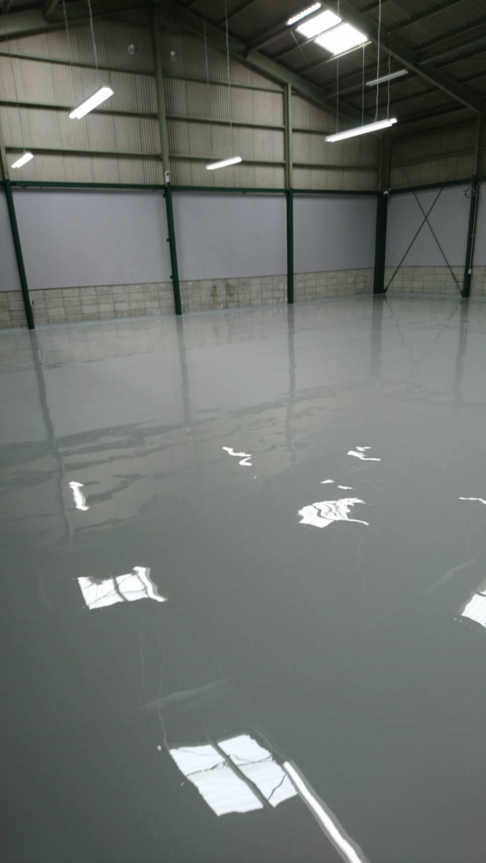 倉庫や車庫・工場の床の塗装