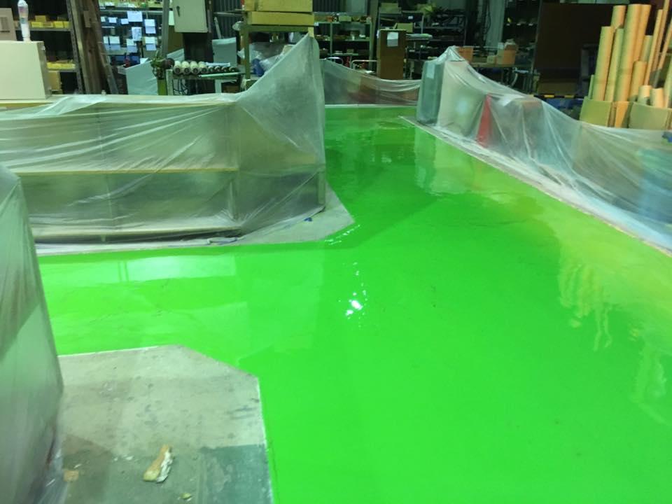工場の床塗装