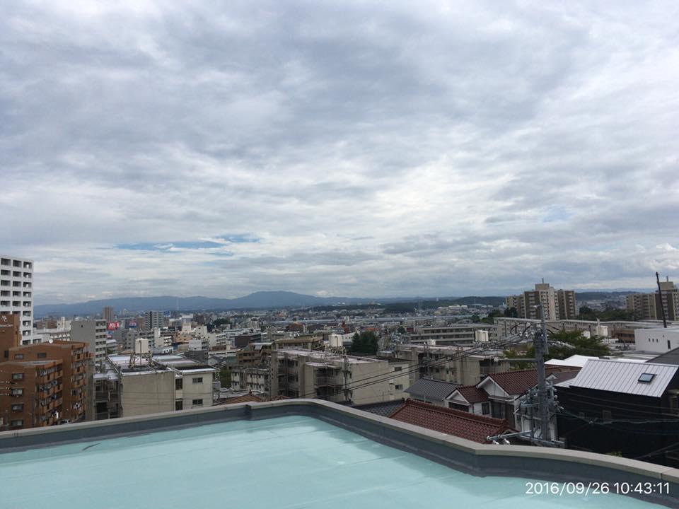 屋上防水現場からの写真