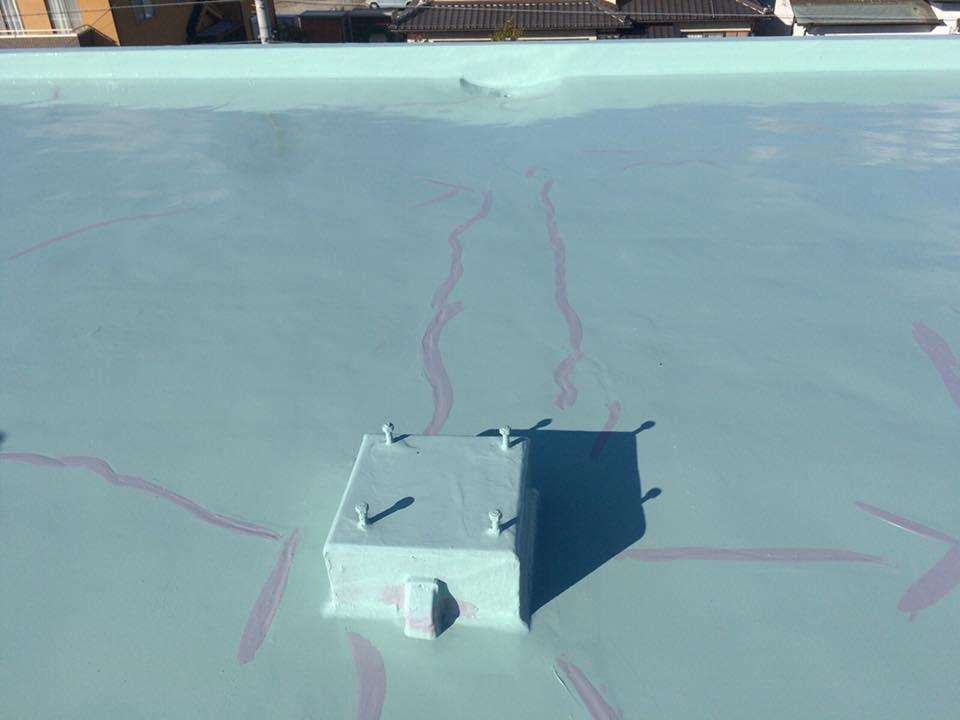 屋上防水のひび割れ
