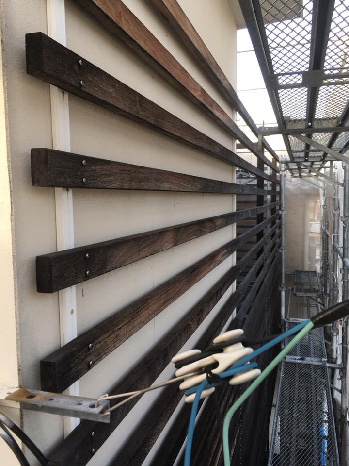 ウッドフェンス・ウッドデッキなど木部塗装