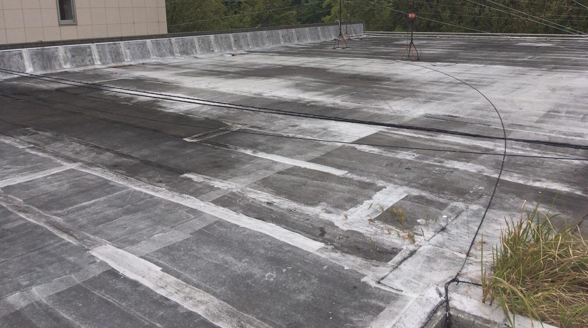 名古屋市中区の屋上防水工事(現場調査)